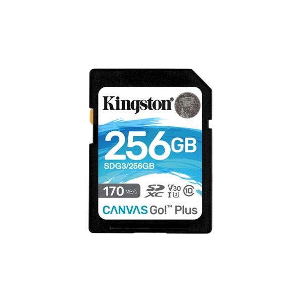 Kingston 256GB SD Canvas Go Plus (SDXC Class 10 UHS-I U3) (SDG3/256GB) memória kártya - 1