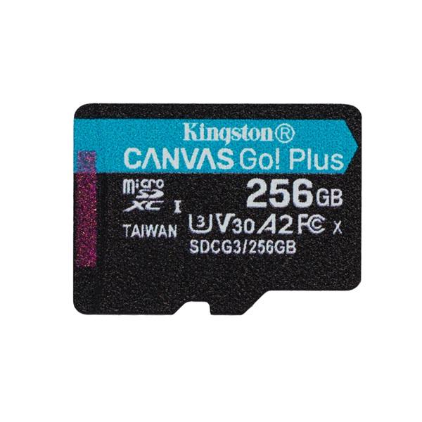 Kingston 256GB SD micro Canvas Go! Plus (SDXC Class 10 UHS-I U3) (SDCG3/256GBSP) memória kártya - 1