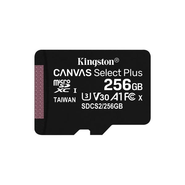 Kingston 256GB SD micro Canvas Select Plus (SDXC Class 10 A1) (SDCS2/256GBSP) memória kártya - 1