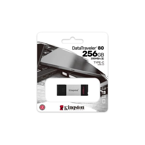 Kingston 256GB USB3.2 C DataTraveler 80 (DT80/256GB) Flash Drive - 3