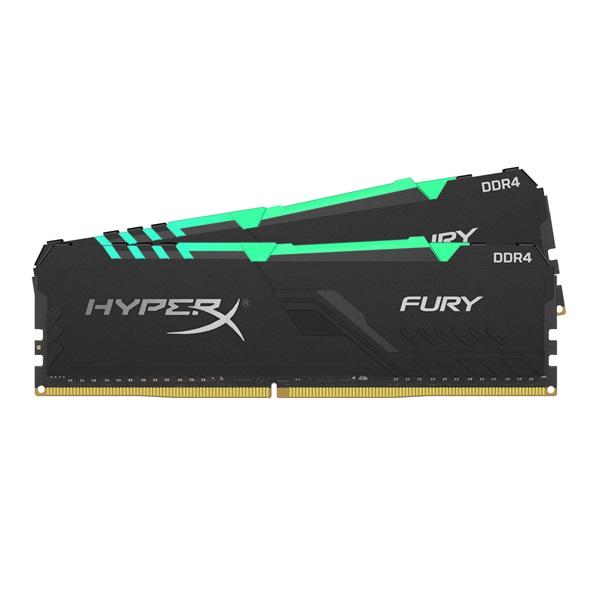 Kingston 32GB/3200MHz DDR-4 HyperX FURY RGB (Kit 2db 16GB) (HX432C16FB4AK2/32) memória - 1