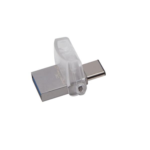 Kingston 32GB microUSB3.1 C/USB3.1 A Ezüst (DTDUO3C/32GB) Flash Drive - 1
