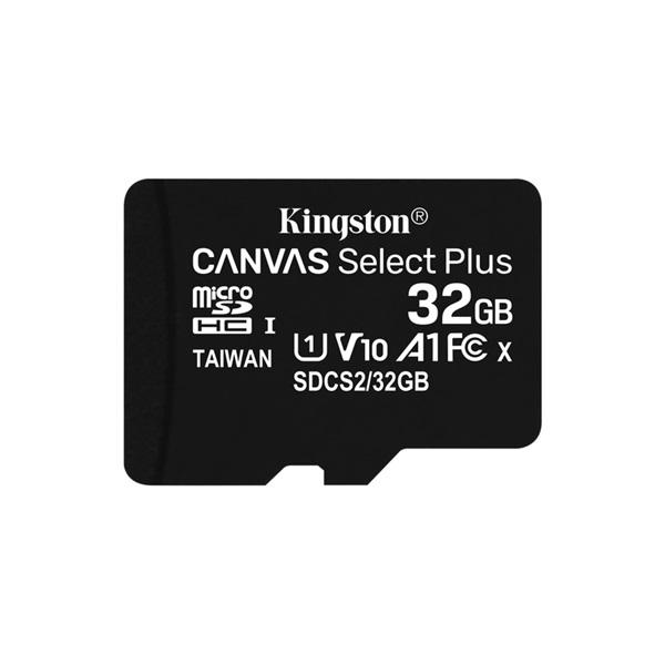 Kingston 32GB SD micro Canvas Select Plus (SDHC Class 10 A1) (SDCS2/32GBSP) memória kártya - 1