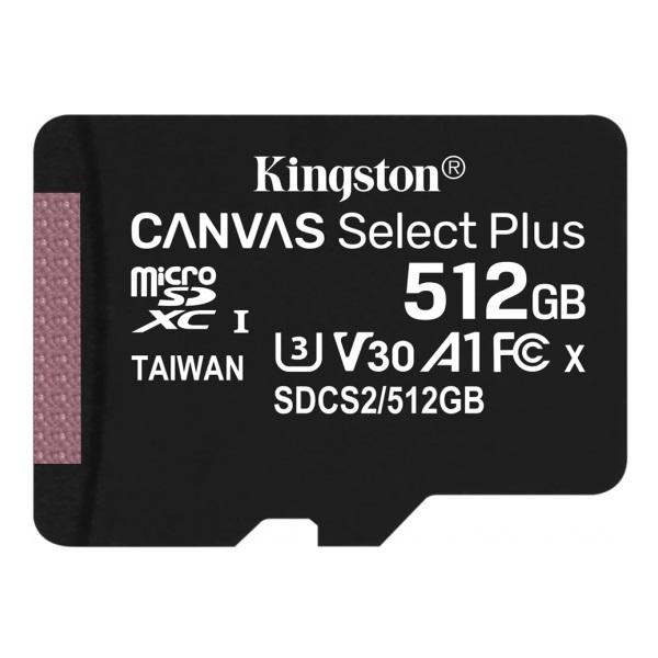 Kingston 512GB SD micro Canvas Select Plus (SDXC Class 10 A1) (SDCS2/512GBSP) memória kártya - 1