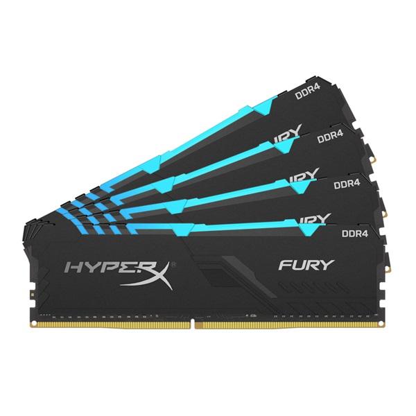 Kingston 64GB/3000MHz DDR-4 HyperX FURY RGB (Kit 4db 16GB) (HX430C15FB3AK4/64) memória - 1