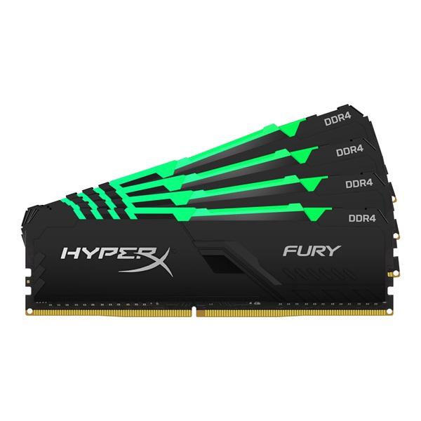 Kingston 64GB/3600MHz DDR-4 HyperX FURY RGB (Kit 4db 16GB) (HX436C18FB4AK4/64) memória - 1