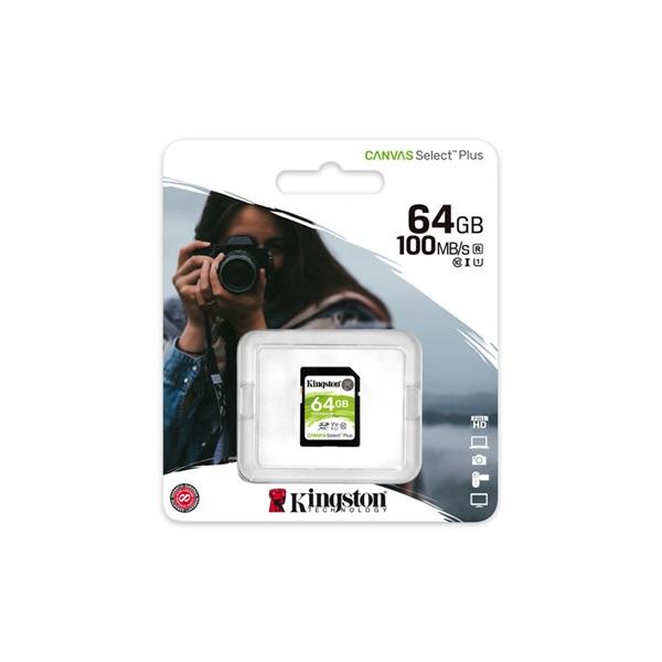 Kingston 64GB SD Canvas Select Plus (SDXC Class 10 UHS-I U1) (SDS2/64GB) memória kártya - 2