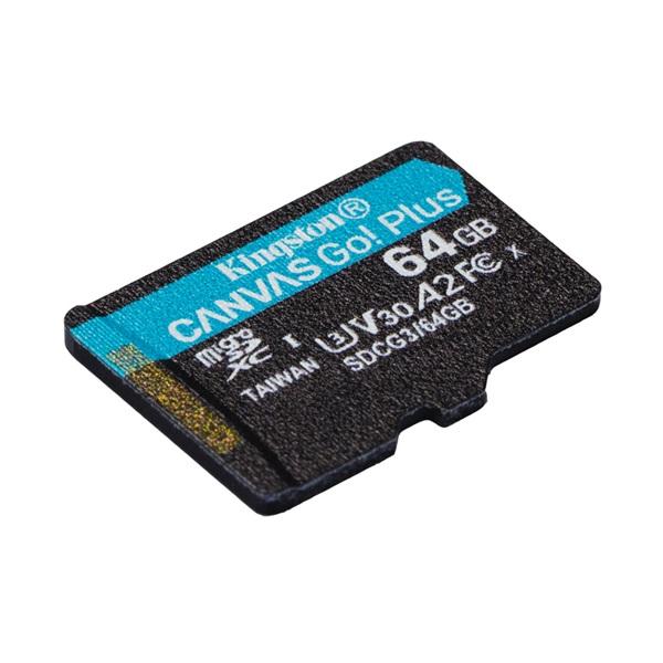 Kingston 64GB SD micro Canvas Go! Plus (SDXC Class 10  UHS-I U3) (SDCG3/64GBSP) memória kártya - 2