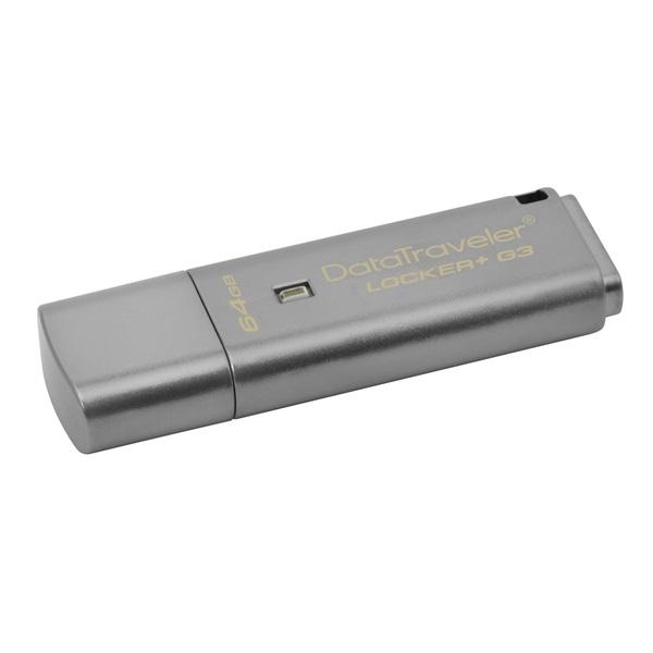 Kingston 64GB USB3.0 Ezüst (DTLPG3/64GB) Automatic Data Security Flash Drive - 1