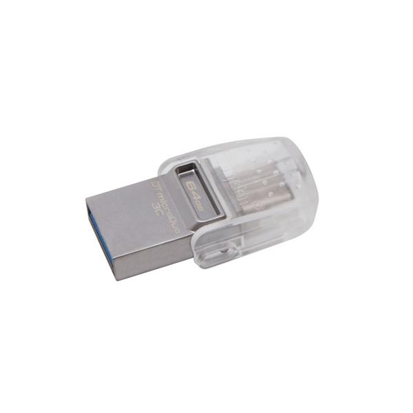 Kingston 64GB USB3.1 C/USB3.1 A Ezüst (DTDUO3C/64GB) Flash Drive - 3