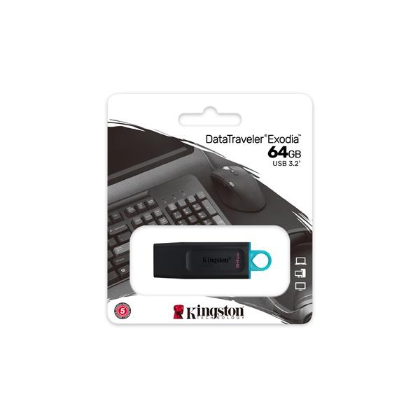 Kingston 64GB USB3.2 DataTraveler Exodia (DTX/64GB) Flash Drive - 6