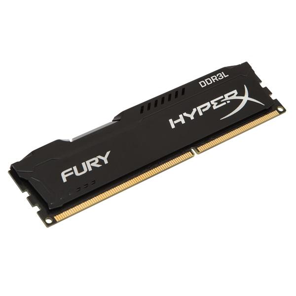 Kingston 8GB/1600MHz DDR-3 HyperX FURY fekete LoVo (HX316LC10FB/8) memória - 1