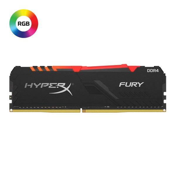 Kingston 8GB/3466MHz DDR-4 1Rx8 HyperX FURY RGB (HX434C16FB3A/8) memória - 1