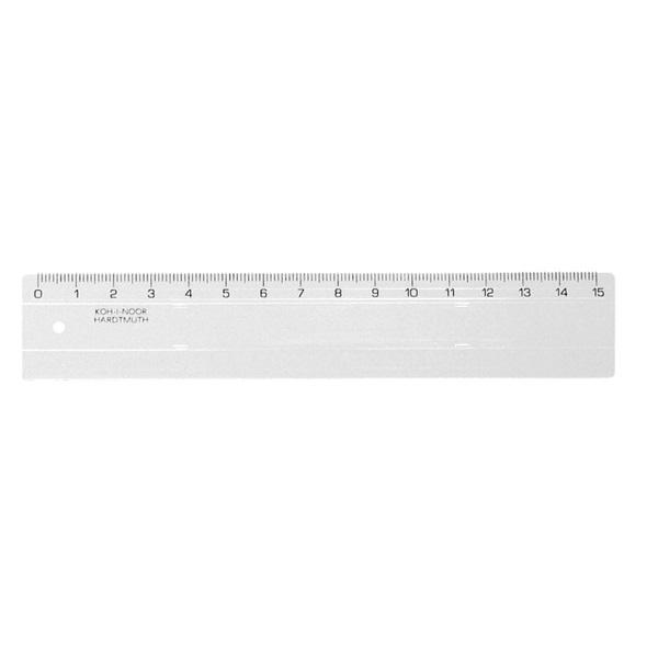 Koh-I-Noor 15cm átlátszó vonalzó - 1