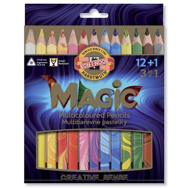 Koh-I-Noor 3408/13 vastag 13db-os vegyes színű színes ceruza - 1
