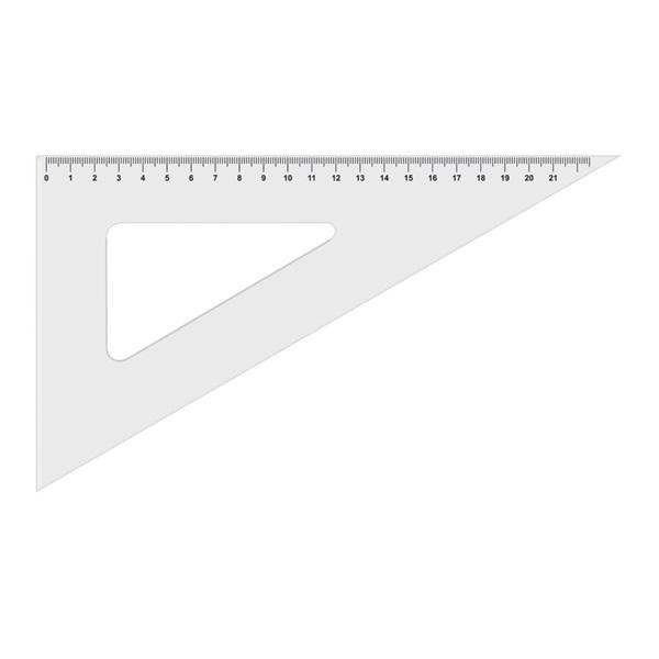 Koh-I-Noor 45fokos átlátszó háromszög vonalzó - 1