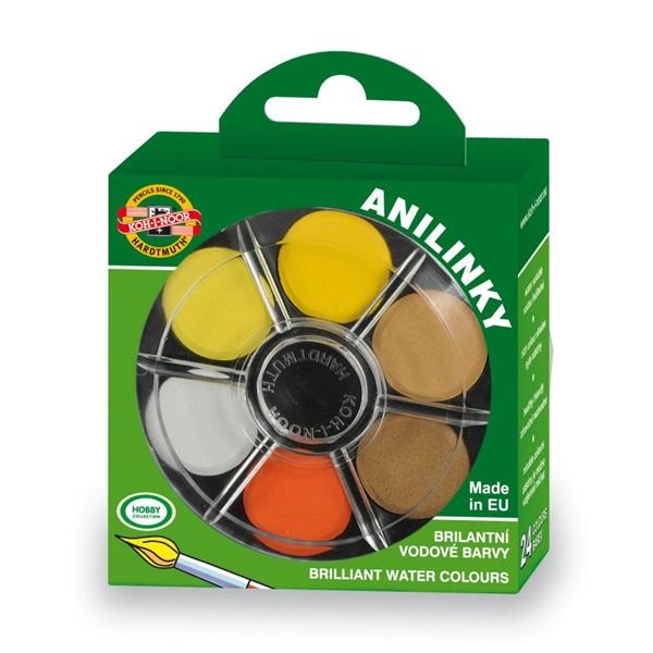 Koh-I-Noor brillant kerek 24 színű vízfesték készlet - 1