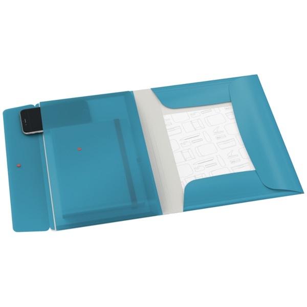 Leitz COSY mobil PP nyugodt kék extra tasakos gumis mappa - 1