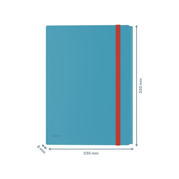 Leitz COSY mobil PP nyugodt kék extra tasakos gumis mappa - 2