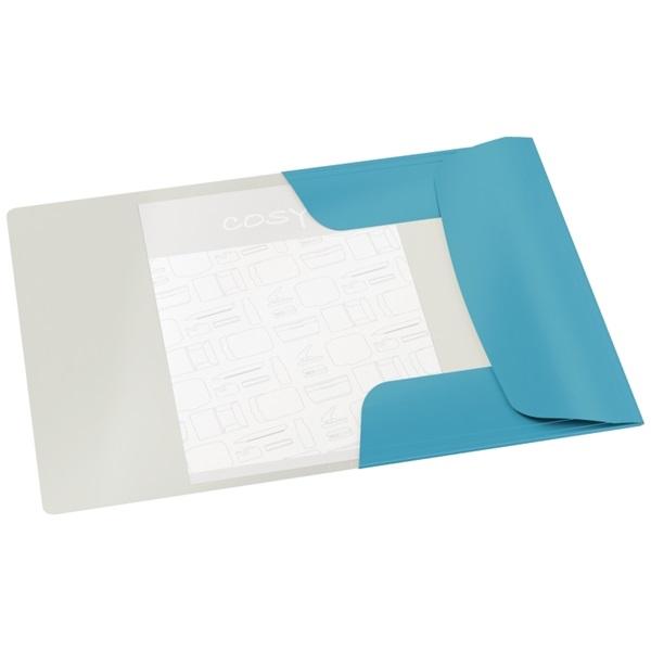 Leitz COSY Soft touch A4 nyugodt kék gumis karton mappa - 1
