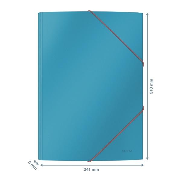 Leitz COSY Soft touch A4 nyugodt kék gumis karton mappa - 2