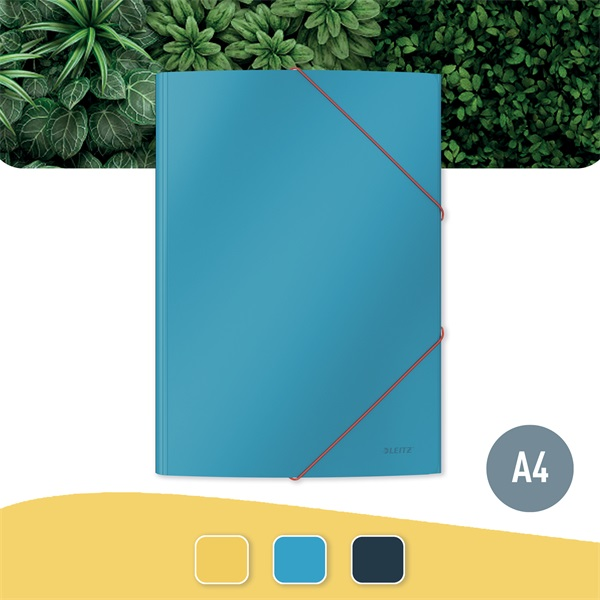 Leitz COSY Soft touch A4 nyugodt kék gumis karton mappa - 3