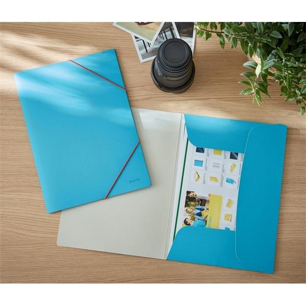 Leitz COSY Soft touch A4 nyugodt kék gumis karton mappa - 5