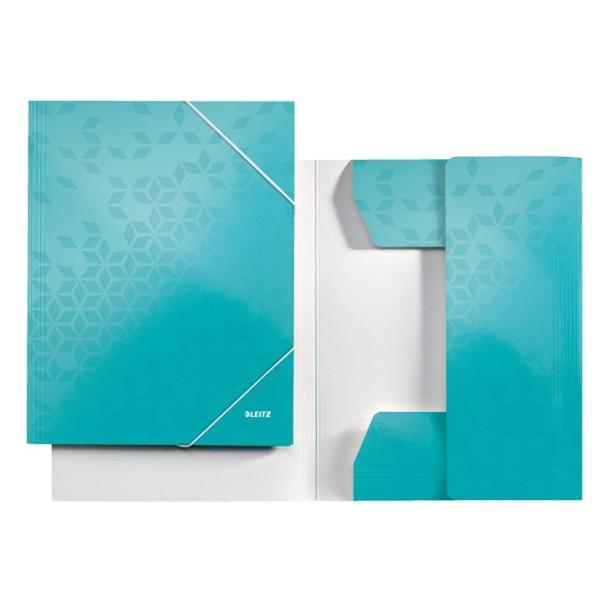 Leitz Wow A4 karton jégkék gumis mappa - 5