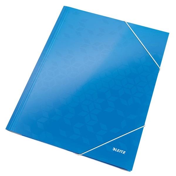Leitz Wow A4 karton kék gumis mappa - 1