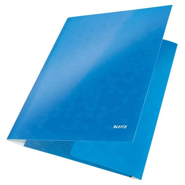 Leitz Wow A4 karton kék gumis mappa - 2