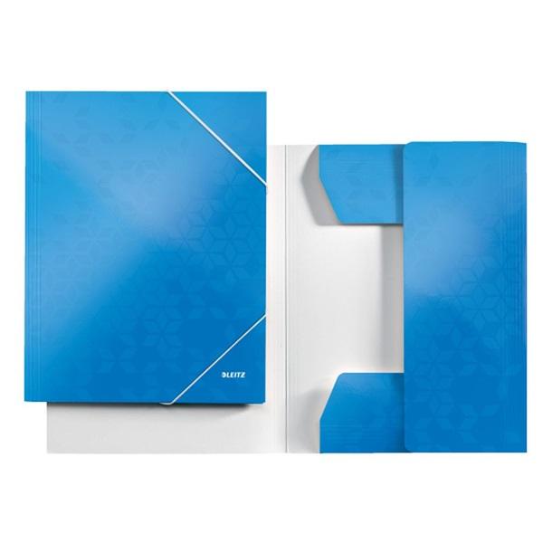 Leitz Wow A4 karton kék gumis mappa - 3