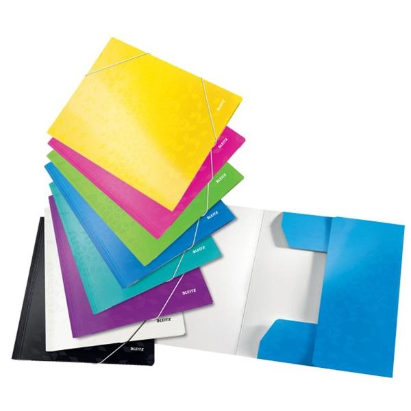 Leitz Wow A4 karton kék gumis mappa - 4