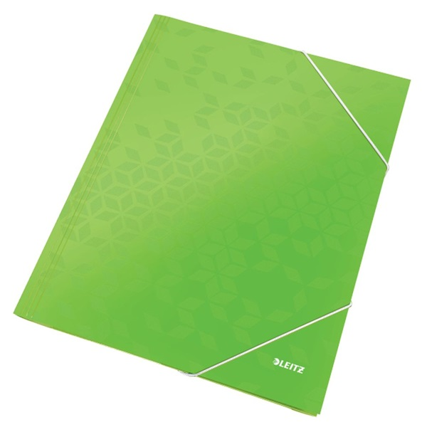 Leitz Wow A4 karton zöld gumis mappa - 1