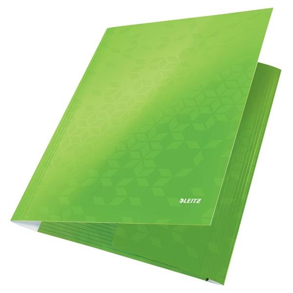 Leitz Wow A4 karton zöld gumis mappa - 2