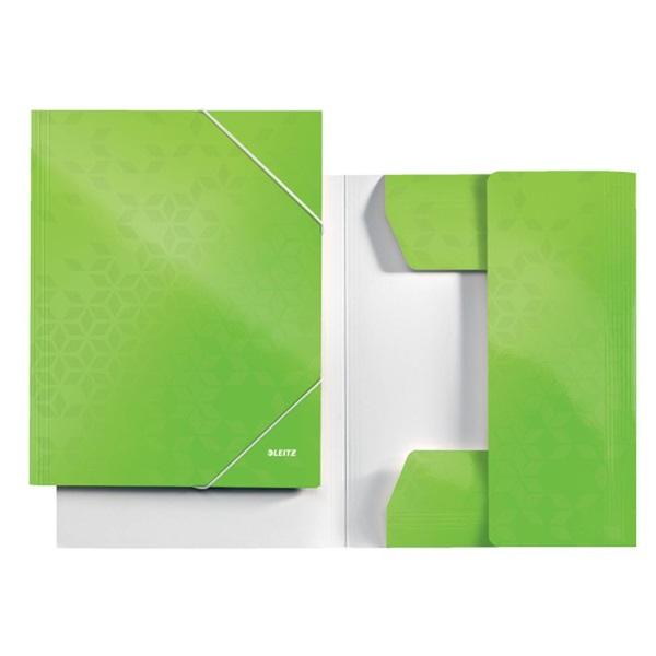 Leitz Wow A4 karton zöld gumis mappa - 3