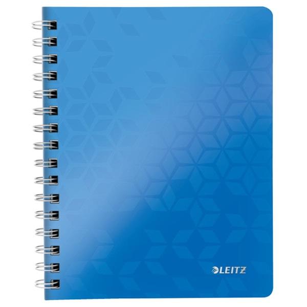 Leitz Wow A5 80lapos kockás kék spirálfüzet - 1