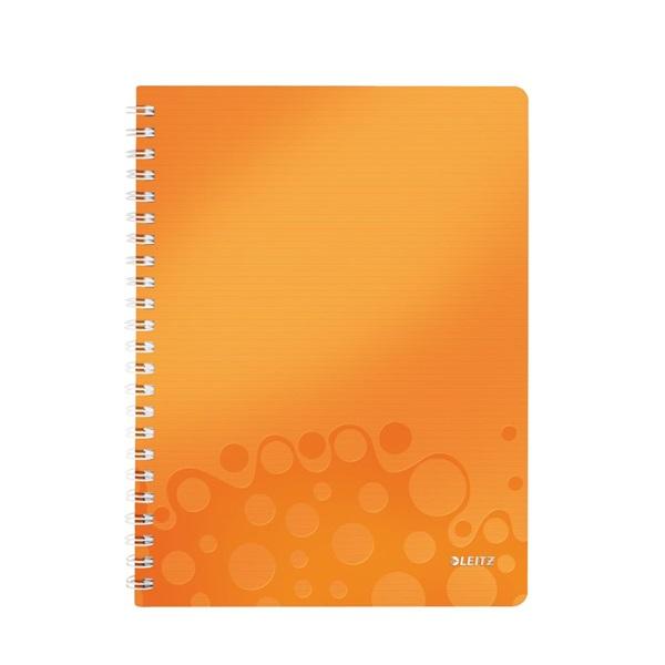 Leitz Wow A5 80lapos kockás narancssárga spirálfüzet - 1