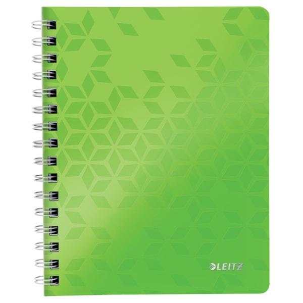 Leitz Wow A5 80lapos kockás zöld spirálfüzet - 1