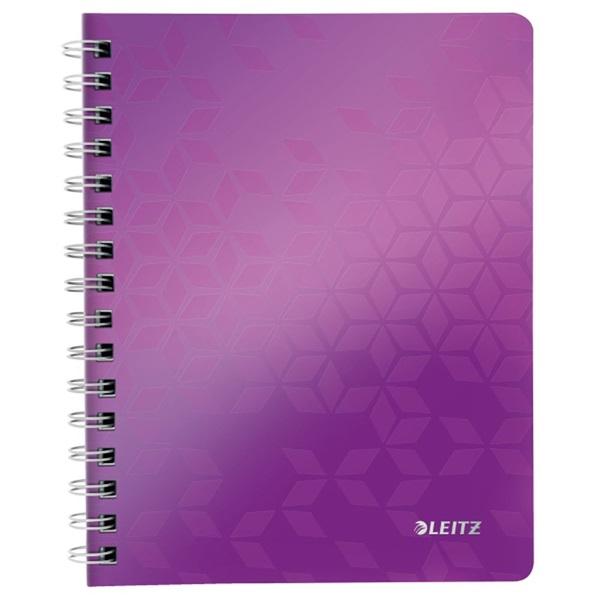 Leitz Wow A5 80lapos vonalas lila spirálfüzet - 1