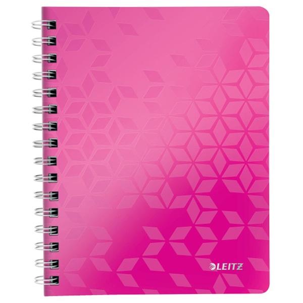 Leitz Wow A5 80lapos vonalas rózsaszín spirálfüzet - 1