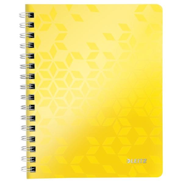 Leitz Wow A5 kockás sárga spirálfüzet - 1