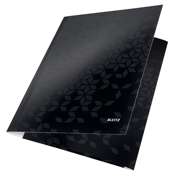 Leitz Wow karton fekete gumis mappa - 2