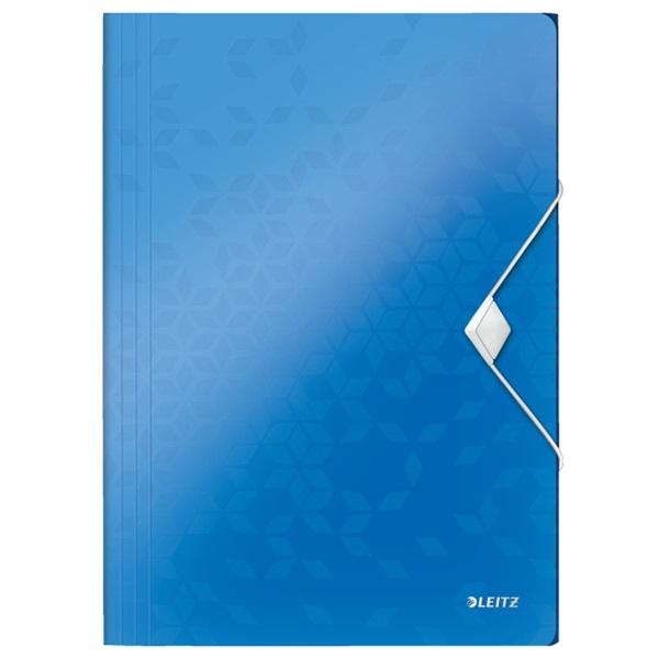 Leitz Wow polipropilén kék gumis mappa - 1