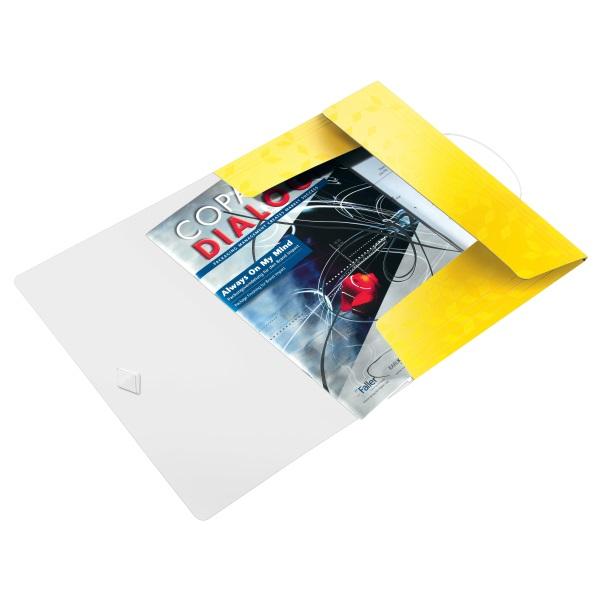 Leitz Wow PP sárga gumis mappa - 2