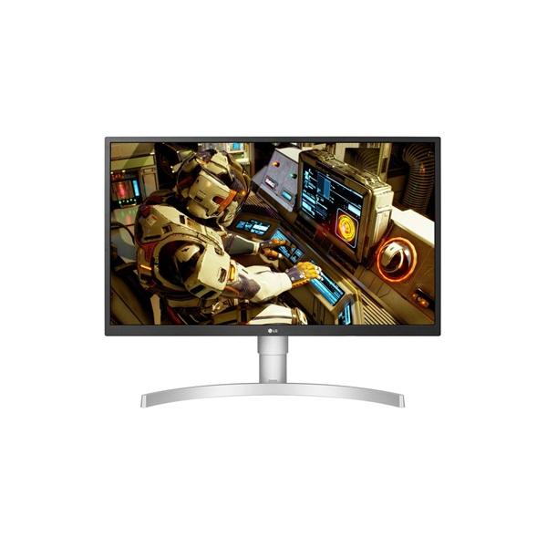 LG 27 27UL550-W 4K IPS HDMI DisplayPort LED fehér pivot monitor - 1