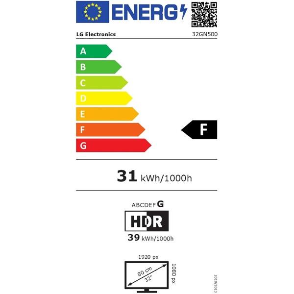 LG 31,5 32GN500-B FHD VA 165Hz HDR10 gamer monitor - 2
