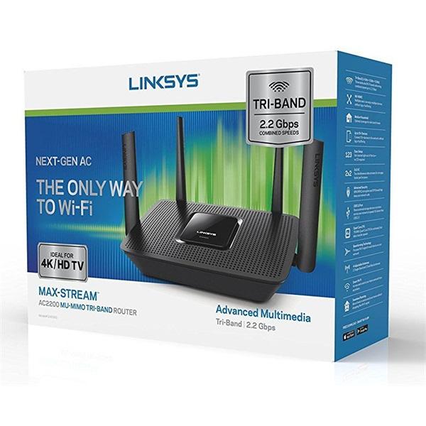 Linksys EA8300 Max-Stream AC2200 Tri-Band Wi-Fi Router - 3
