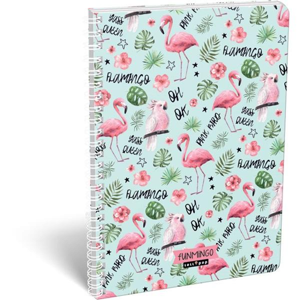 Lizzy Lollipop Funmingo A4 vonalas spirálfüzet - 1