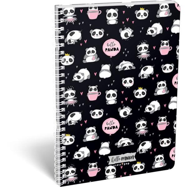 Lizzy Lollipop Hello Panda A4 vonalas spirálfüzet - 1
