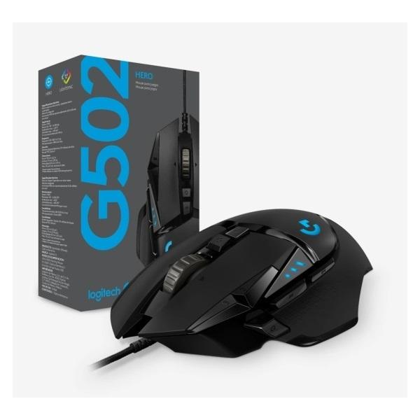 Logitech G502 HERO USB fekete gamer egér - 7